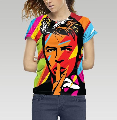 Футболка женская 3D - David Bowie RIP