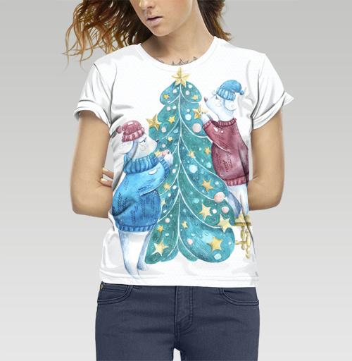 Фотография футболки Роб, Лили и елка