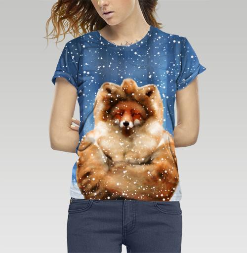 Фотография футболки Лисам тоже холодно зимой