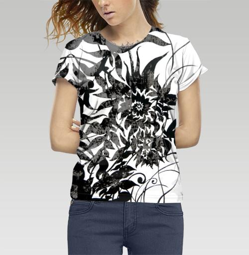 Растительный мотив, Atman, Магазин футболок Atman, Футболка женская 3D