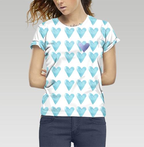 Фотография футболки Голубое сердце