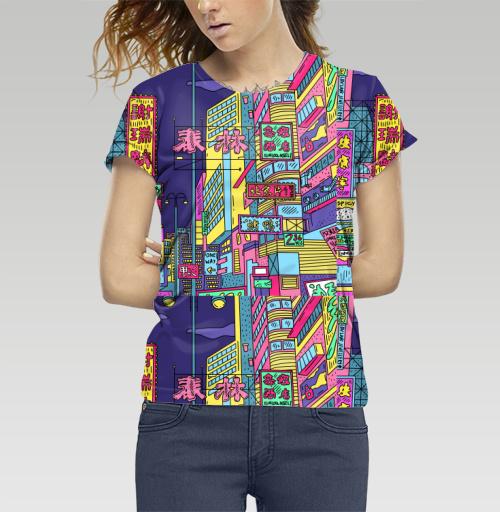 Футболка —  Неоновый Китай от Theeighth   maryjane.ru - дизайнерские футболки