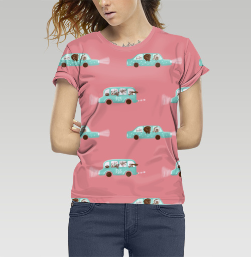Футболка —  Собачий автобус от Ololony   maryjane.ru - дизайнерские футболки