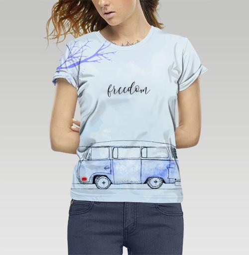 Футболка —  Синий автобус от DariaDaTipina | maryjane.ru - дизайнерские футболки