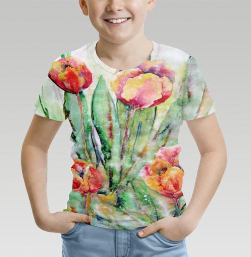 Фотография футболки Тюльпаны. Жаркий полдень