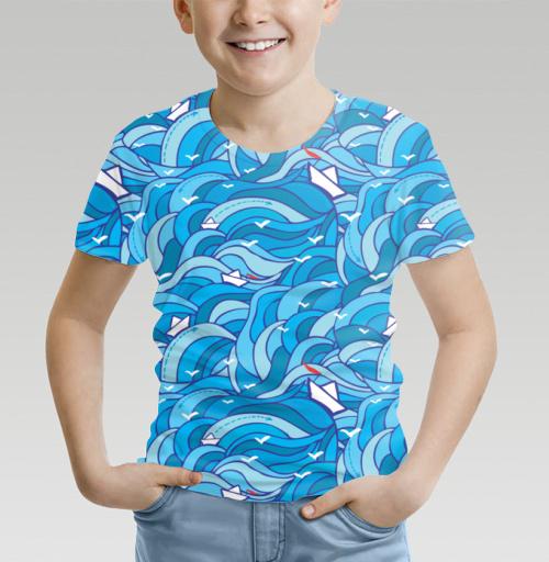 Морское путешествие, Nyhoboika, Магазин футболок Tatyana Komarova Art, Футболка детская (полная запечатка)