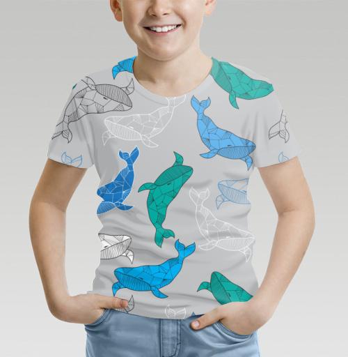 Огромный синий кит, NataliBrill, By NataliBrill, Футболка детская (полная запечатка)