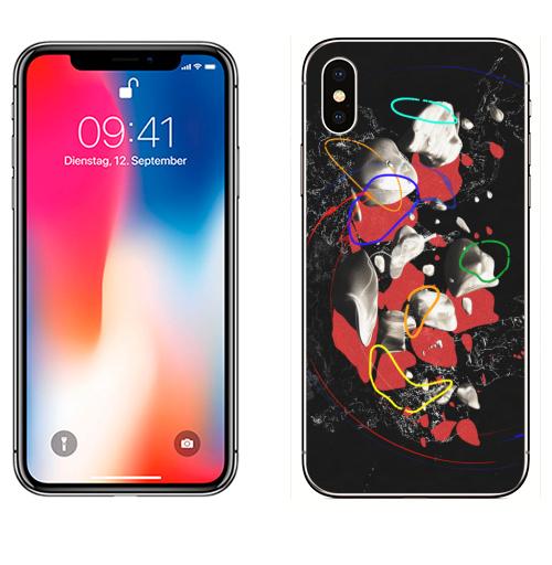 Наклейка на Телефон Apple iPhone X СПЭЙС,  купить в Москве – интернет-магазин Allskins, космос, астероид, абстрация, камни, звезда