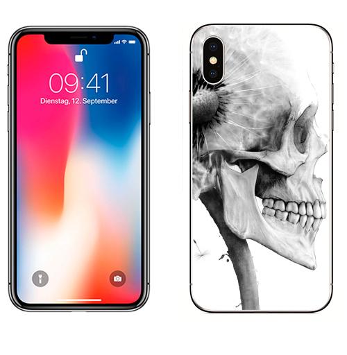 Наклейка на Телефон Apple iPhone X ОДУВАНЧ,  купить в Москве – интернет-магазин Allskins, розыгрыш, прикол, череп, скелет, цветы, идея, металл, rock