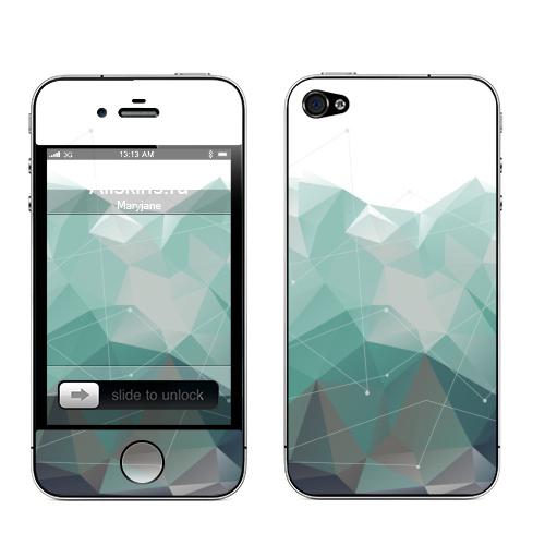 Наклейка на Телефон Apple iPhone 4S, 4 Геометрия Айсберга,  купить в Москве – интернет-магазин Allskins, геометрия, полигон, айсберг, скандинавия