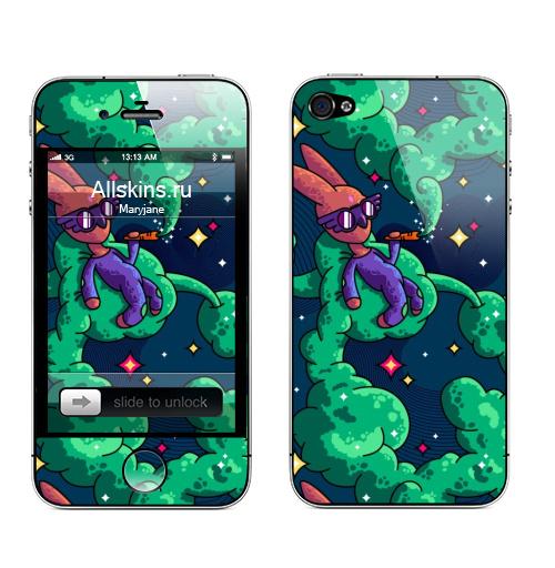 Наклейка на Телефон Apple iPhone 4S, 4 Употребление моркови.,  купить в Москве – интернет-магазин Allskins, морква, дым, космос, лето, кролики, животные, морковка, лелик, заяц