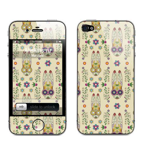 Наклейка на Телефон Apple iPhone 4S, 4 День, когда вставило.,  купить в Москве – интернет-магазин Allskins, заяц, лелик, Мексика, latino, животные, лето, кролики