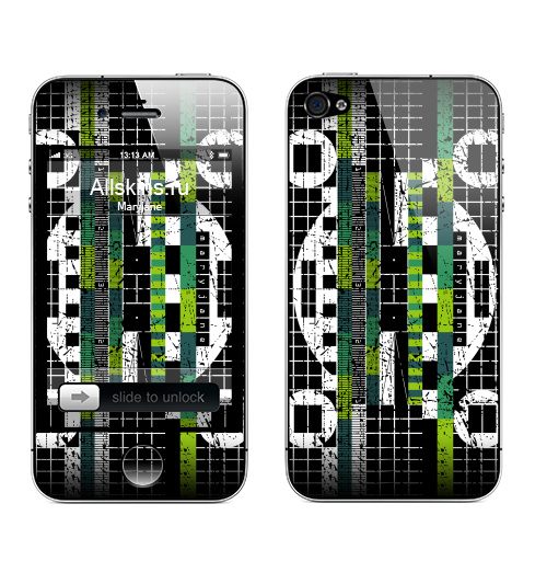 Наклейка на Телефон Apple iPhone 4S, 4 Настроение,  купить в Москве – интернет-магазин Allskins, черный, зеленый, сетка, телевизор, maryjane, белый
