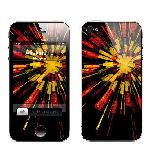 Наклейка на Телефон Apple iPhone 4S, 4 Звезда по имени Любовь,  купить в Москве – интернет-магазин Allskins, индеец, индия, красота, черный, весна, лето, красный, желтый, любовь