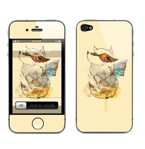 Наклейка на Телефон Apple iPhone 4S, 4 Фей,  купить в Москве – интернет-магазин Allskins, собаки, мимими, животные, фея, магия, позитив, красота, природа