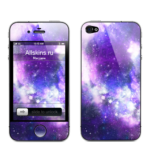 Наклейка на Телефон Apple iPhone 4S, 4 Ты просто космос, детка,  купить в Москве – интернет-магазин Allskins, космос
