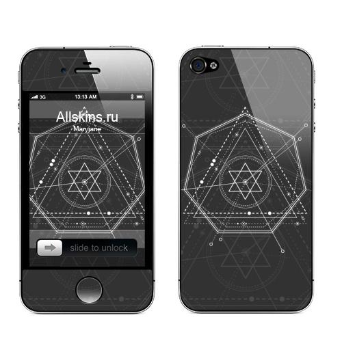 Наклейка на Телефон Apple iPhone 4S, 4 Магический маятник времени,  купить в Москве – интернет-магазин Allskins, сакральное, геометрия, космос, геометрический
