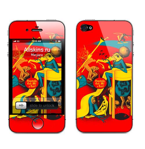 Наклейка на Телефон Apple iPhone 4S, 4 Вызов на Сады,  купить в Москве – интернет-магазин Allskins, монстры, известные люди, Босх, сюрреализм, хэллоуин