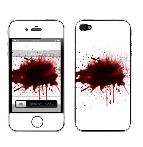 Наклейка на Телефон Apple iPhone 4S, 4 Я  в  порядке,  купить в Москве – интернет-магазин Allskins, порядок, кровь, выстрелы, брызги, красный, надписи