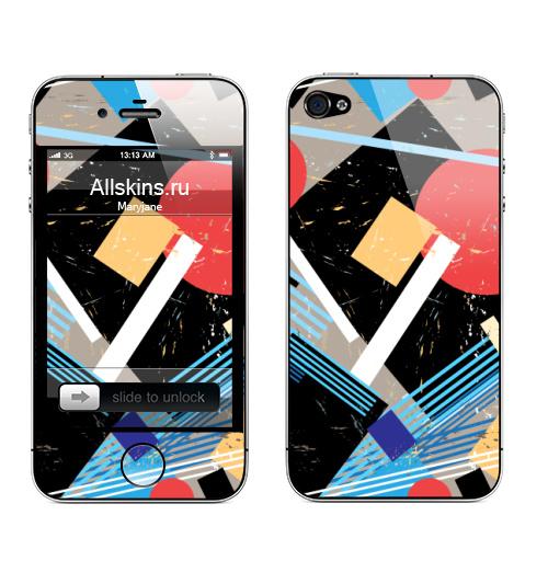Наклейка на Телефон Apple iPhone 4S, 4 Авангард,  купить в Москве – интернет-магазин Allskins, графика, абстрактные, мода, авангард, геометрия, паттерн, ткань