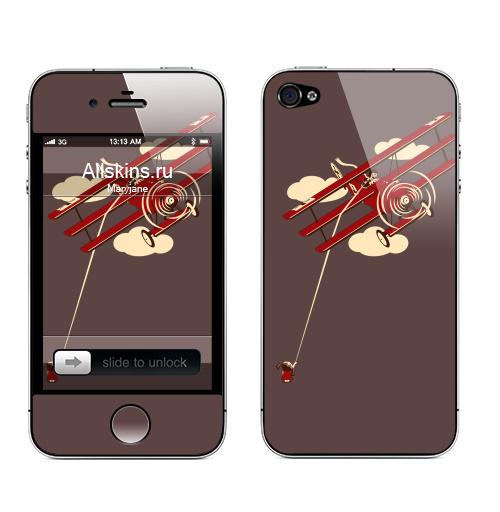 Наклейка на Телефон Apple iPhone 4S, 4 Pilot,  купить в Москве – интернет-магазин Allskins, девушка, самолет, военные, детские, мужские