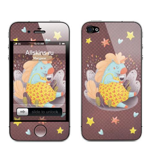 Наклейка на Телефон Apple iPhone 4S, 4 Мечта единорога,  купить в Москве – интернет-магазин Allskins, единорог, мечта, мило, лето, весна, детские, вино, сердечки