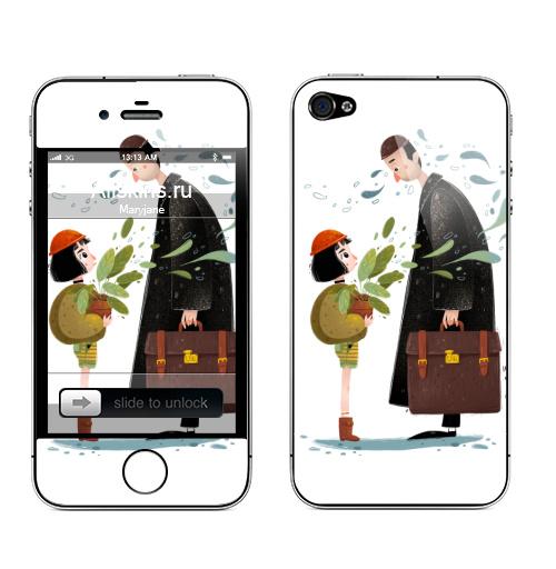 Наклейка на Телефон Apple iPhone 4S, 4 Леон,  купить в Москве – интернет-магазин Allskins, романтика, кино, leon, матильда, романтичный, Ньюйорк, франзузский