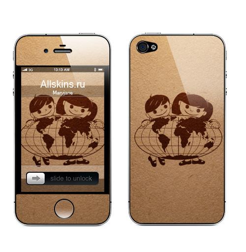Наклейка на Телефон Apple iPhone 4S, 4 Из детства...,  купить в Москве – интернет-магазин Allskins, СССР, одноцвет, детские