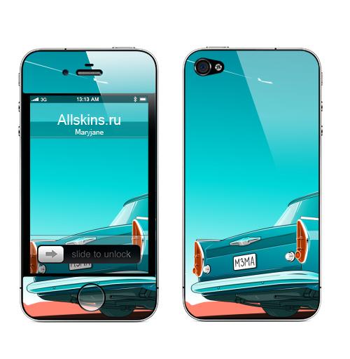 Наклейка на Телефон Apple iPhone 4S, 4 Космич,  купить в Москве – интернет-магазин Allskins, поп-арт, автомобиль, тачка, москвичи, ретро, винтаж, автоспорт, стильно