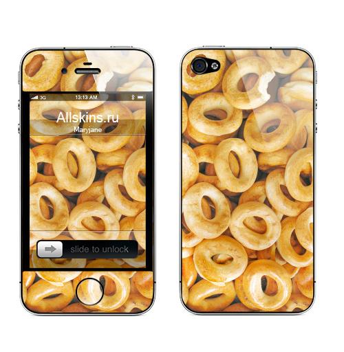 Наклейка на Телефон Apple iPhone 4S, 4 Бараночки,  купить в Москве – интернет-магазин Allskins, паттерн, текстура