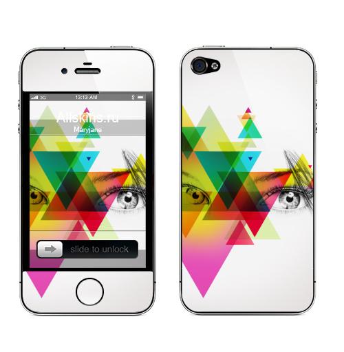 Наклейка на Телефон Apple iPhone 4S, 4 face,  купить в Москве – интернет-магазин Allskins, абстракция, геометрия