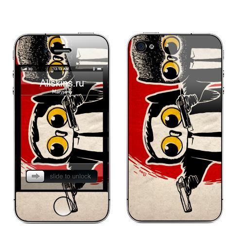 Наклейка на Телефон Apple iPhone 4S, 4 Надо было взять дробовики.,  купить в Москве – интернет-магазин Allskins, мафия, классика, кино, мужик, костюм, военные, сова, оружие, черный, красный, надписи, надписи на английском, продажи_надписи, 300 Лучших работ
