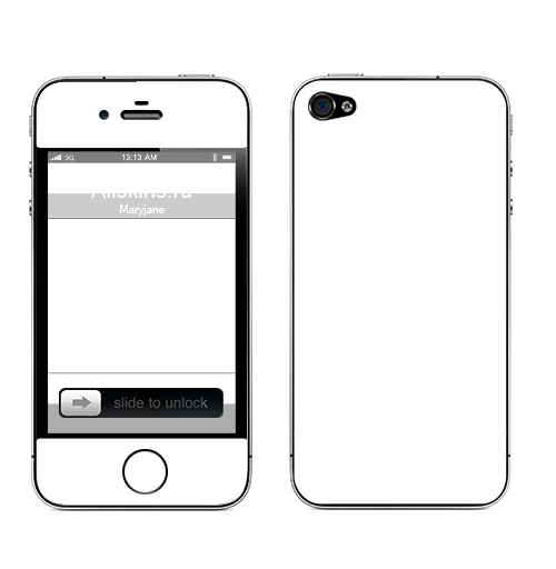 Наклейка на Телефон Apple iPhone 4S, 4 Дед Мазай,  купить в Москве – интернет-магазин Allskins, прикол, детские, легенда, весна, животные, заяц