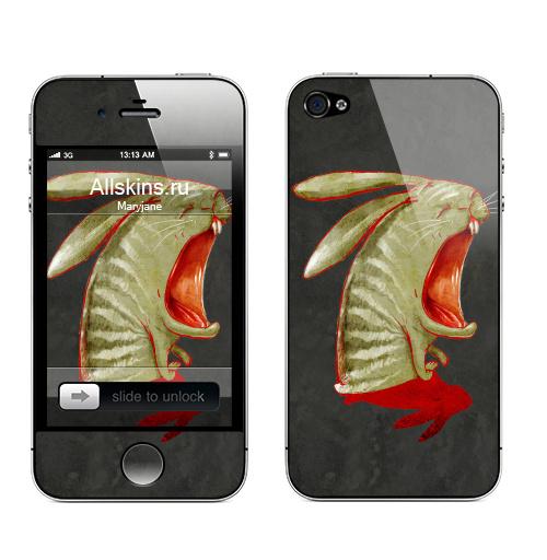 Наклейка на Телефон Apple iPhone 4S, 4 Кроль2. перерождение,  купить в Москве – интернет-магазин Allskins, заяц, персонажи