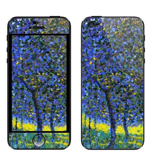 Наклейка на Телефон Apple iPhone 5 Спасибо Климту,  купить в Москве – интернет-магазин Allskins, природа, плакат, живопись