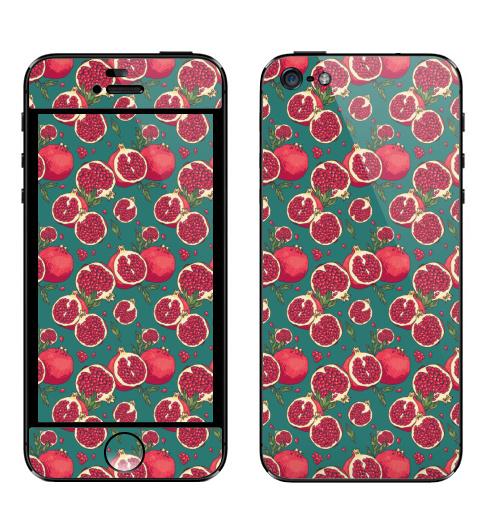 Наклейка на Телефон Apple iPhone 5 Гранатовый сок,  купить в Москве – интернет-магазин Allskins, гранат, фрукты, экзотика, лето, свежесть, природа, растение, плод, яркий