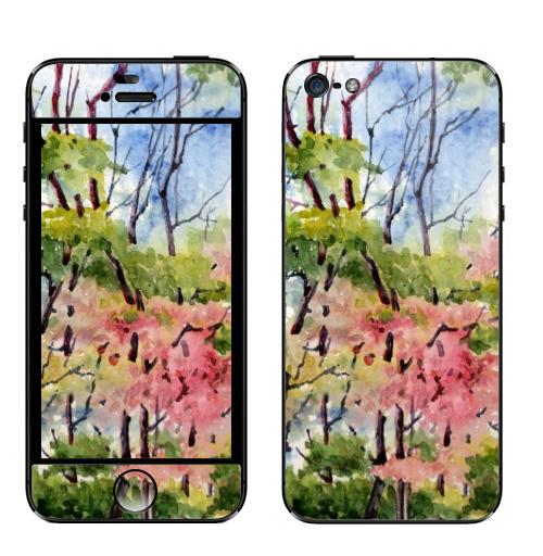 Наклейка на Телефон Apple iPhone 5 Аромат весны,  купить в Москве – интернет-магазин Allskins, весна, любовь, нежность, радость, воздушныйзмей, цветы
