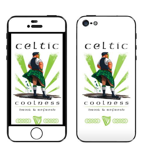Наклейка на Телефон Apple iPhone 5 Кельтская свежесть,  купить в Москве – интернет-магазин Allskins, кельт, кельтский, Кельты, прикол, прикол, Ирландия, свежесть
