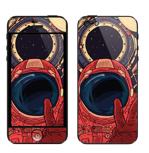 Наклейка на Телефон Apple iPhone 5 Гиперпространство,  купить в Москве – интернет-магазин Allskins, космос, космос, комиксы, красный, контурный, звезда, космический