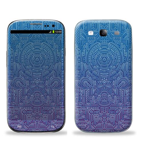 Наклейка на Телефон Samsung Galaxy S3 (i9300) Ментакулус,  купить в Москве – интернет-магазин Allskins, микросхема, МАТРИЦА, узор, музыка, техно, техника