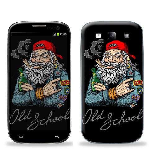 Наклейка на Телефон Samsung Galaxy S3 (i9300) Old School,  купить в Москве – интернет-магазин Allskins, english, надписи, волосы, косяк, школа, 80-е, металл, старая, олдскулл
