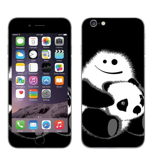 Наклейка на Телефон Apple iPhone 6, 6s Привет!,  купить в Москве – интернет-магазин Allskins, панда, безбашенная, белый, черный
