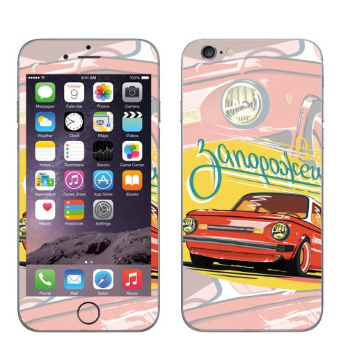 Наклейка на Телефон Apple iPhone 6, 6s Спорт седан,  купить в Москве – интернет-магазин Allskins, Запорожец, тачка, ретро, винтаж, гонки, спорт, красный, автомобиль, автоспорт