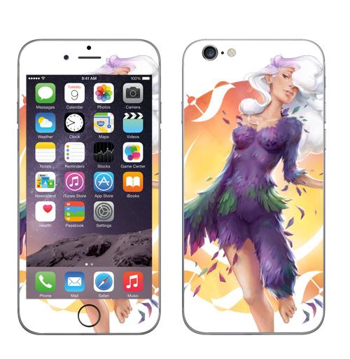 Наклейка на Телефон Apple iPhone 6, 6s Разоблачение,  купить в Москве – интернет-магазин Allskins, вдохновение, нежно, миф, девушка, иллюстация, иллюстраторы, перья, облако, женьщина