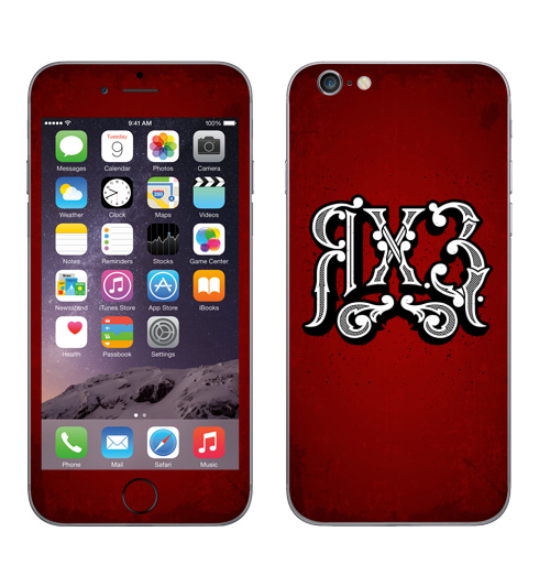 Наклейка на Телефон Apple iPhone 6, 6s Я ХЗ,  купить в Москве – интернет-магазин Allskins, типографика, речь, фразы, я, паттерн, узор, буквица, надписи