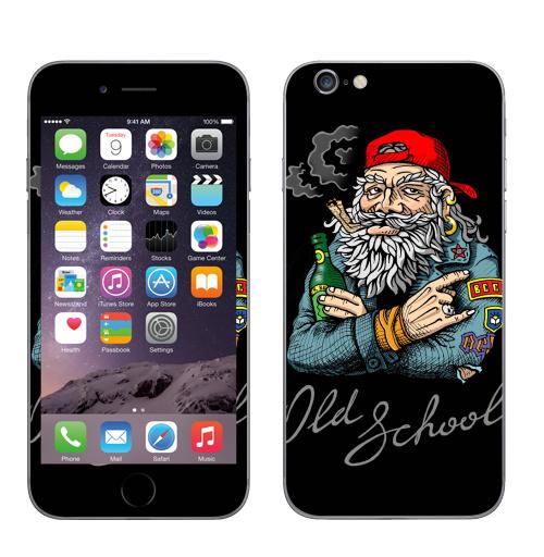 Наклейка на Телефон Apple iPhone 6, 6s Old School,  купить в Москве – интернет-магазин Allskins, english, надписи, волосы, косяк, школа, 80-е, металл, старая, олдскулл