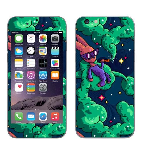 Наклейка на Телефон Apple iPhone 6 plus Употребление моркови.,  купить в Москве – интернет-магазин Allskins, морква, дым, космос, лето, кролики, животные, морковка, лелик, заяц