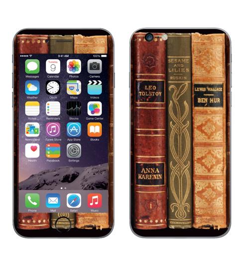 Наклейка на Телефон Apple iPhone 6 plus old books,  купить в Москве – интернет-магазин Allskins, фотография, паттерн, книга