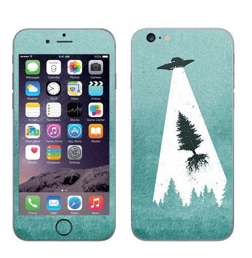 Наклейка на Телефон Apple iPhone 6 plus Похищение,  купить в Москве – интернет-магазин Allskins, похищение, захват, лучь, ночь, лес, космос, новый год, пикник, плагиат