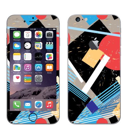 Наклейка на Телефон Apple iPhone 6 plus с яблоком Авангард,  купить в Москве – интернет-магазин Allskins, графика, абстракция, мода, авангард, геометрия, паттерн, ткань